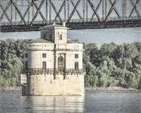 Water tower on Mississippi River