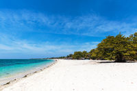 White sand beach in Cuba