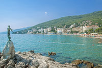 View from Promenade of Opatija at Adriatic Sea,Istria,Croatia