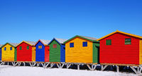 colorful beach cabins, Muizenberg, South Africa