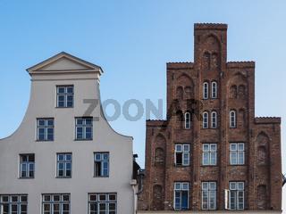 Typische Giebel von Häusern in Lübeck, Deutschland