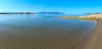 Sandy beach panorama (Vlore, Albania).
