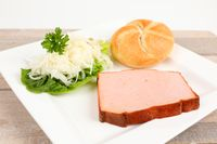 meat loaf with coleslaw