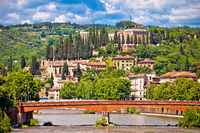 Adige river and Castel San Pietro in Verona view