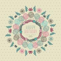 Happy Birthday Floral Design