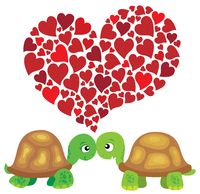 Valentine turtles theme image 1