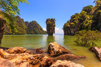 The island in the Andaman Sea