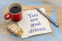 You are goal driven - positive affirmation