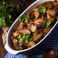 Eggplant casserole - Melitzana Me Kreas