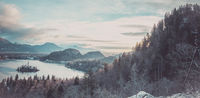 Panorama with lake Bled and the surroundings