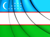3D Flag of the Uzbekistan. 3D Illustration.