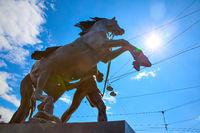 Horse tamers sculpture in Saint Petersburg