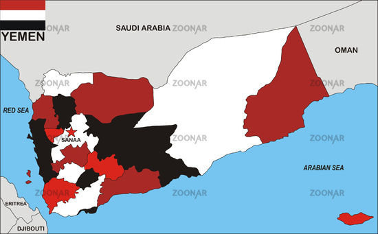 Cantor Gallery Political Map Of Yemen