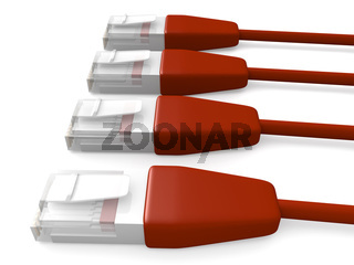 Red Network Cables