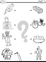 match objects educational coloring book