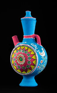 Egyptian painted pottery jug