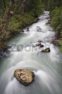 Fluss an der Carretera Austral, Patagonien, Chile, river at the Carretera Austral, Patagonia, Chile