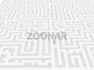 Labyrinth over white background