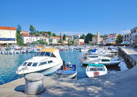 Harbor of Malinska-Dubasnica on Krk Island,adriatic Sea,Kvarner,Croatia