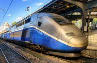 Modern speed passenger train