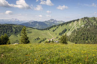 Obere Firstalm beim Aufstieg zur Brecherspitze, Bayern