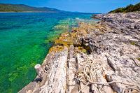 Idyllic rocky beach Sakarun on Dugi Otok island