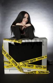 Cute goth on Television