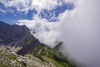 Nebelhorn, 2224m, Allgäuer Alpen, Allgäu, Bayern, Deutschland, Europa