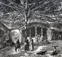 The bazaar of Gallipoli, Turkey, 19th century