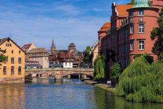 Strassburg im Elsass, Petite France - Strasbourg Petite France in  Alsace