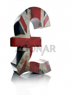 3D Pound Sterling currency symbol