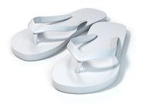 White flip flops isolated on white background.