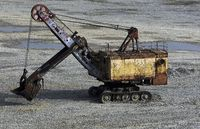 Wreck of a power shovel