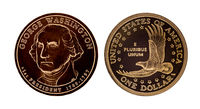 US one dollar coin - George Washington
