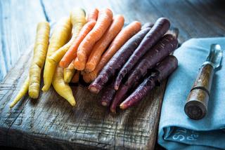 Marcket farm fresh rainbow carrots