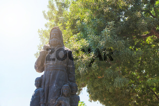 The statue of St. Nicholas in Demre, Turkey