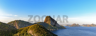View of the Sugar Loaf hill, Guanabara bay