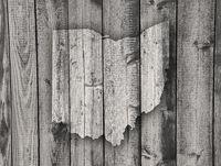 Karte von Ohio auf verwittertem Holz - Map of Ohio on weathered wood