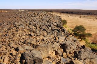 Ausgetrocknetes Flusstal, Wadi Mathendous