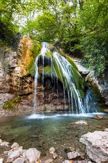 Djur-djur waterfall and lake on Ulu-Uzen river