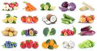 Obst und Gemüse Früchte Sammlung Äpfel, Orangen Paprika Kirschen Essen Freisteller
