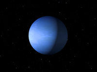 Planet Neptune done with NASA textures