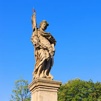 Figur der Brücktorbrücke in Glatz, Schlesien - Statue from St. Johns Bridge, Most Sw.Jana, Klodzko (Glatz), Silesia, Poland