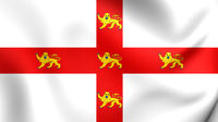 3D Flag of the York, England.