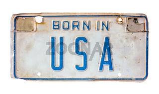 Born In USA License Plate