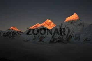 Sunset view from Kala Patthar
