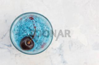 Blue cherry smoothie