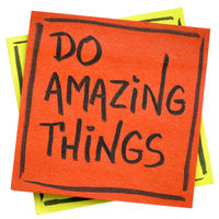 Do amazing things inspirational note
