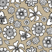 Ornate floral pattern with flowers. Doodle sharpie background. template for card, poster, leaflet.