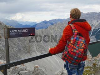 Karwendelblick von der Bergstation des Hafelekar Berges,Nordkette,Innsbruck,Tirol,Österreich
